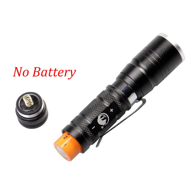 Coupcou.com: U`King 600LM 1 Mode Zoomable Mini Flashlight Torch with Clip