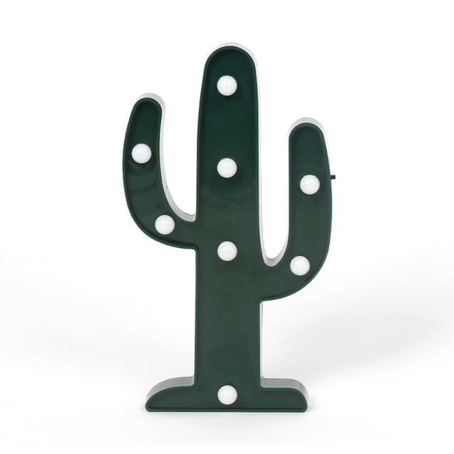 Coupcou.com: BRELONG 3D Cactus Warm White Decoration Night Light for Kids Room Christmas Wedding 3V