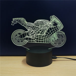Coupcou.com: M.Sparkling TD101 Creative Motorcycle 3D LED Lamp