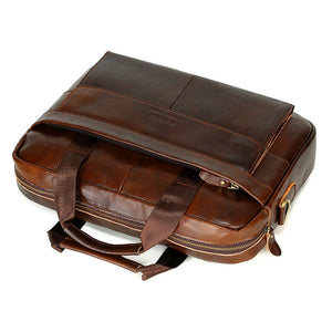 Coupcou.com: FONMOR brand Vintage men's COW leather briefcase Genuine leather handbag Laptop briefcase