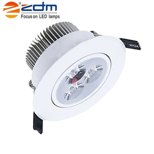 Coupcou.com: Zdm 4PCS 3X2W 400-450LM Dimmable White Led Ceiling Lamps Warm White/Cool White/Natural White Ac110/220v