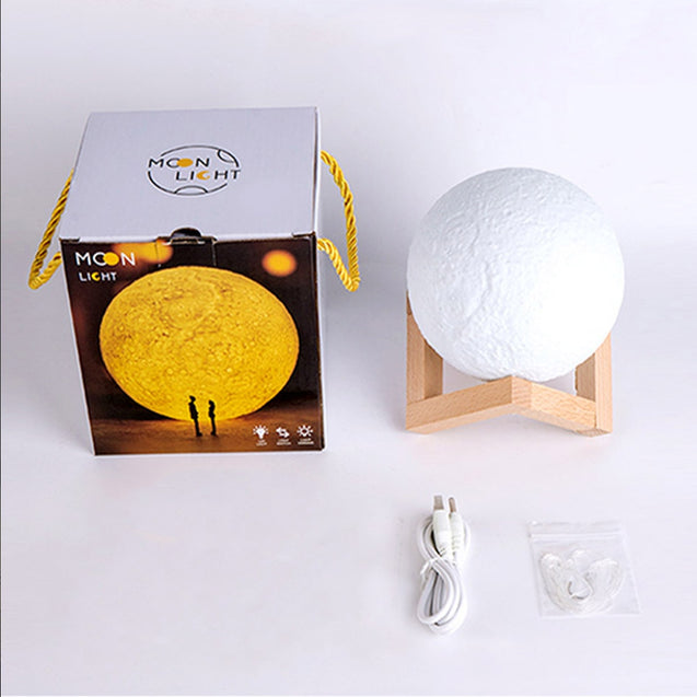 Coupcou.com: YouOKLight YK2308 Bluetooth Speaker 3 Colors Moon Lamp 13cm Dimmable Night Light