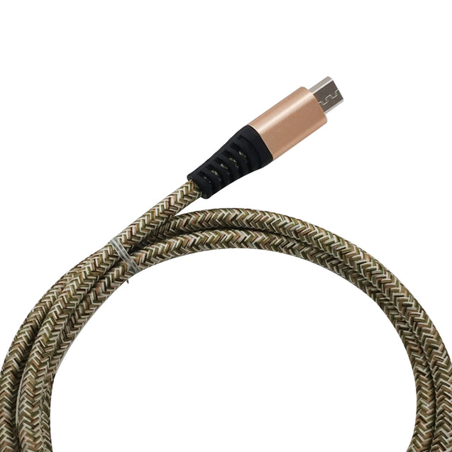 Coupcou.com: 1METER Nylon Micro USB Cable Output 2.4A Fast Charge Wire