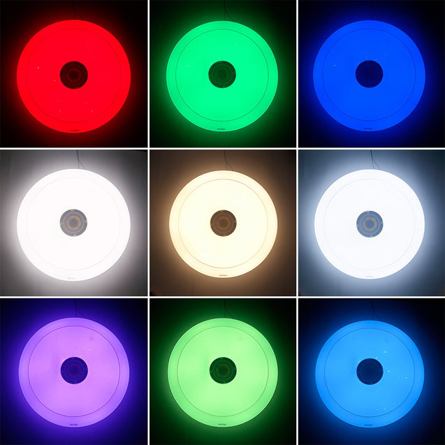 Coupcou.com: Youoklight 1PCS 36W 110-220V Led Ceiling Lamp Multicolor Bluetooth Music App Control
