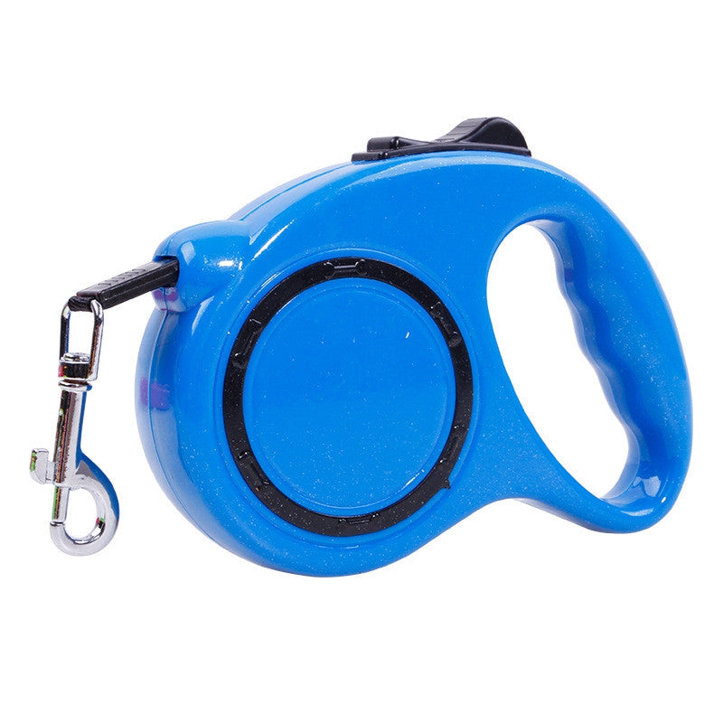 5 m Traction Belt with Automatic Telescopic Rope Portable Pet Dog SuppliesSKY BLUE