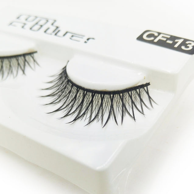 Coupcou.com: 1 Pair Black Natural Roll Become Warped Long False Eyelash