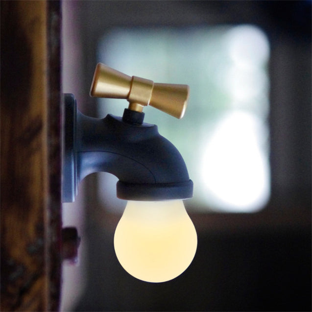 Coupcou.com: Retro Faucet USB Charging Smart Floor Wall Lighting Black Yellow Light