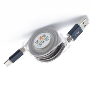 Coupcou.com: Retractable Luminous Data Cable USB 3.1 Type-C
