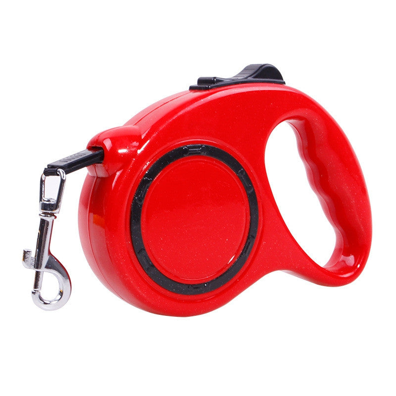 5 m Traction Belt with Automatic Telescopic Rope Portable Pet Dog SuppliesRED