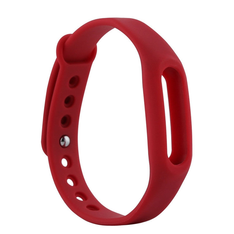 Colorful Silicone Wrist Strap Bracelet 10 Color Replacement watchband for Original 1 Xiaomi Mi b...RED