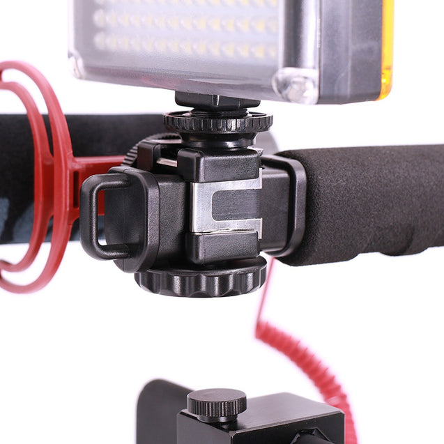 Coupcou.com: Ulanzi U-Grip Triple Shoe Mount Video Action Stabilizing Handle Grip Rig for iPhone 8 / X GoPro Smartphone Canon Sony DSLR Camera