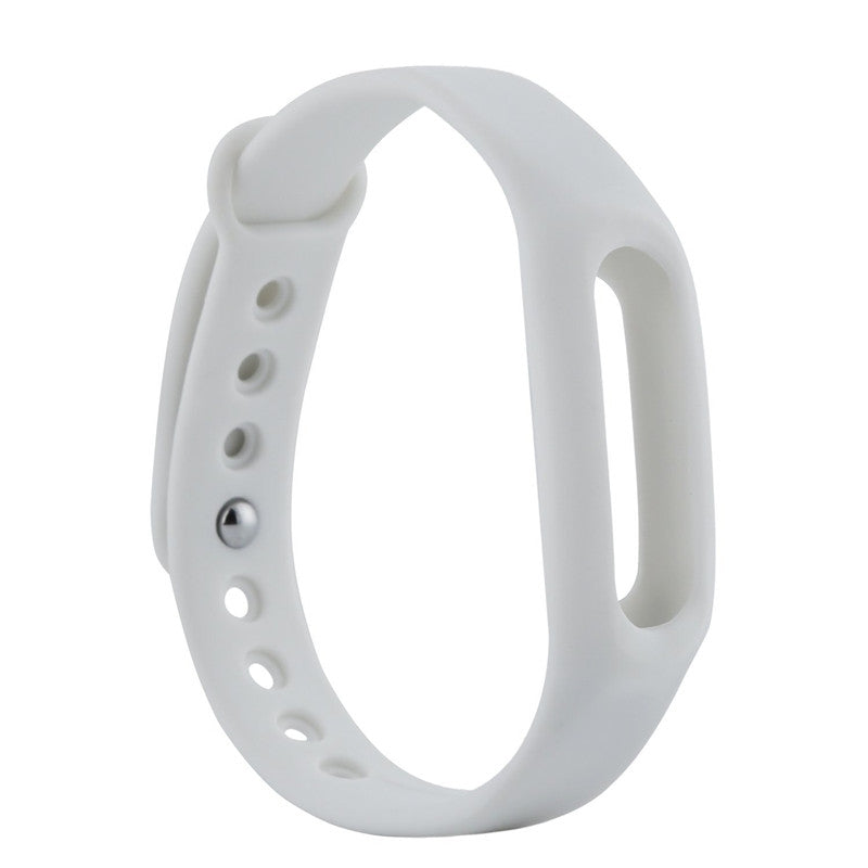 Colorful Silicone Wrist Strap Bracelet 10 Color Replacement watchband for Original 1 Xiaomi Mi b...WHITE