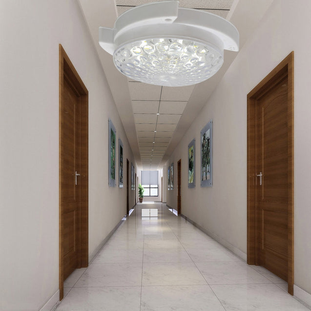 Coupcou.com: JIAWEN 5W Cool White18-LED Voice-Control Ceiling Lamp -White (AC 220V)