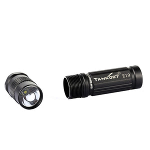 Coupcou.com: TANK007 E19 Portable Tool Keychain AA Battery Flashlight