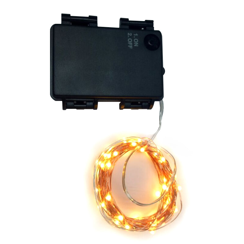 5M 50-LED Copper Wire 8-mode Decorative LED String Lights with Battery BoxBLACK