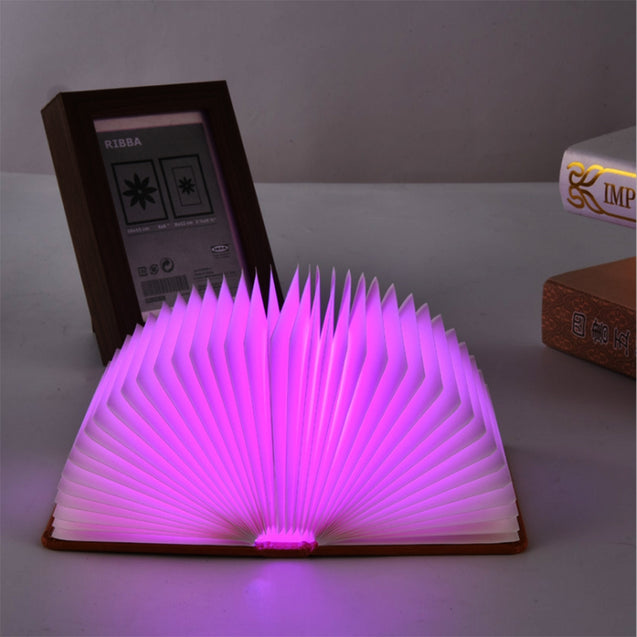 Coupcou.com: Utorch LED 5 Color Book Night Light USB Charging Folding Decorative Bedside Lamp
