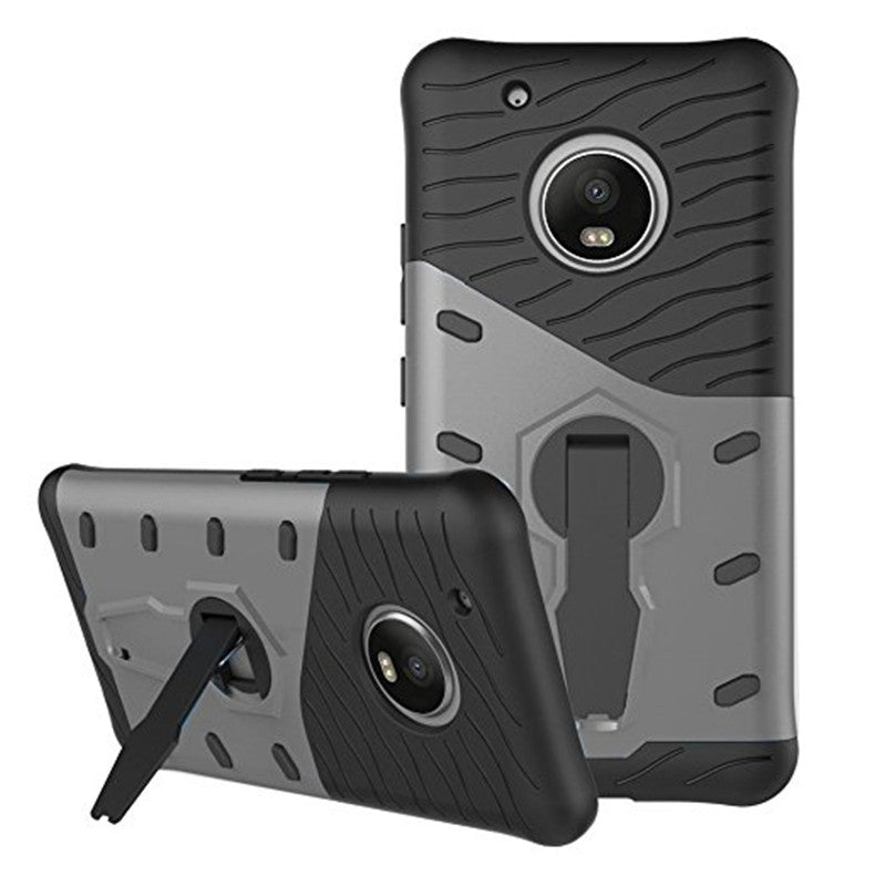 Cover Case for Moto G5 Plus Dual Layer Heavy Duty Hybrid Combo Shock-Resistant Full Body Protect...BLACK