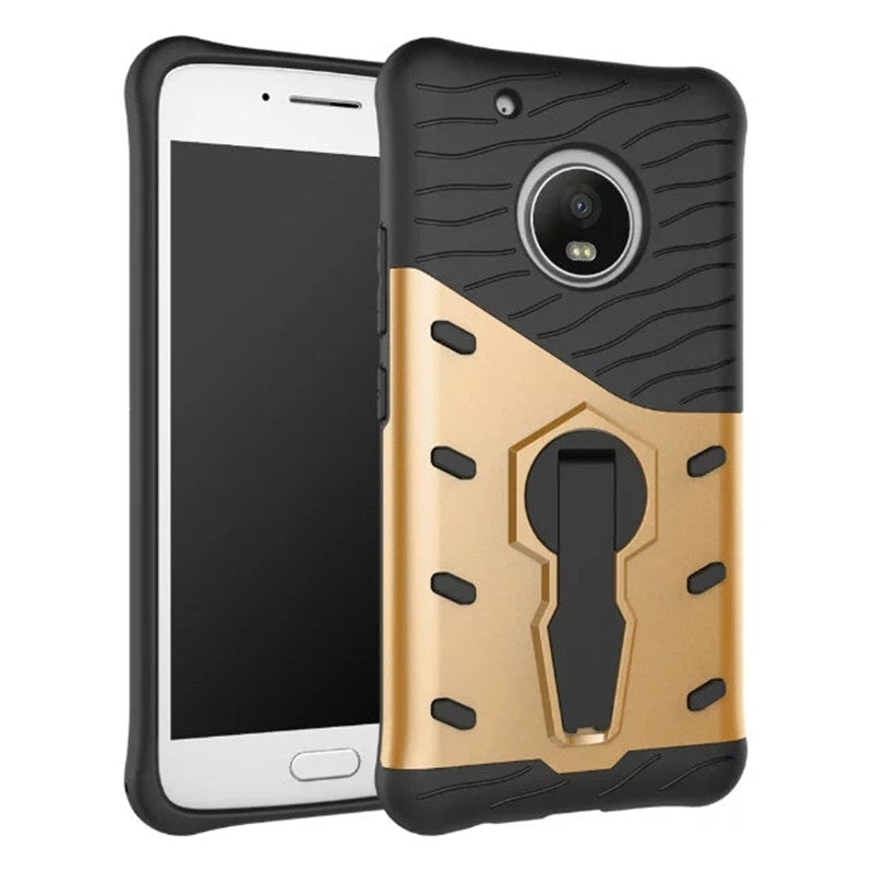 Cover Case for Moto G5 Plus Dual Layer Heavy Duty Hybrid Combo Shock-Resistant Full Body Protect...GOLDEN