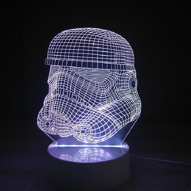 Coupcou.com: DSU Soldier Color Change 3D Visual  LED Table Night Light