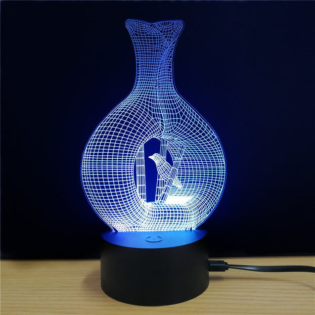 Coupcou.com: M.Sparkling TD072 Creative Aquarius 3D LED Lamp