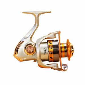 Coupcou.com: 5.2/1Gear Ratio Saltwater/Freshwater Metal Fishing Spinning Reel