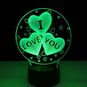 Coupcou.com: 3D Led Night Light 7 Colors Changing touch Lamp Creative Gift