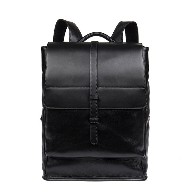 Coupcou.com: DANJUE Daily Men Backpack Genuine Leather Men Bag Large Capacity Travel Bags Male Real Leather School Bag Business