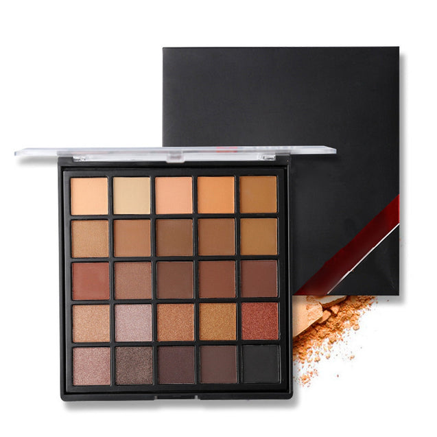 Coupcou.com: 25 Color Matte Eye Shadow Pallete Earth Makeup Glitter