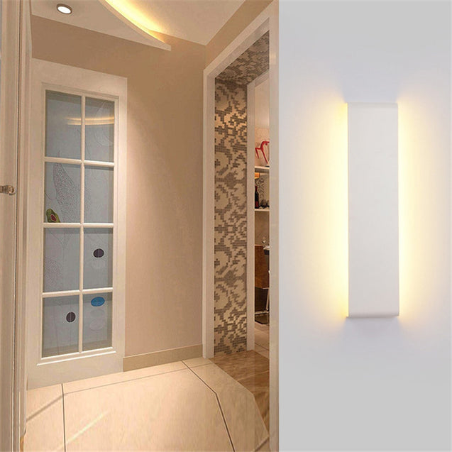 Coupcou.com: 55cm White LED Modern Wall Lamp Aluminum Mirror Light Living Room Bathroom Hallway Stairs bedside Sconce