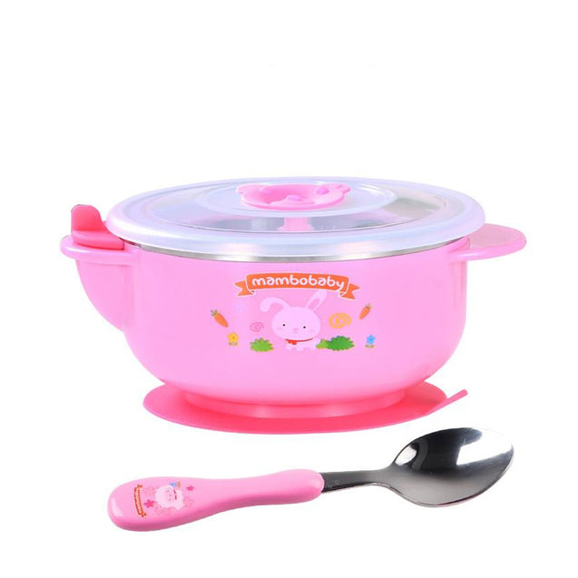 Coupcou.com: Children's water infusion cup stainless steel bowl to send spoon