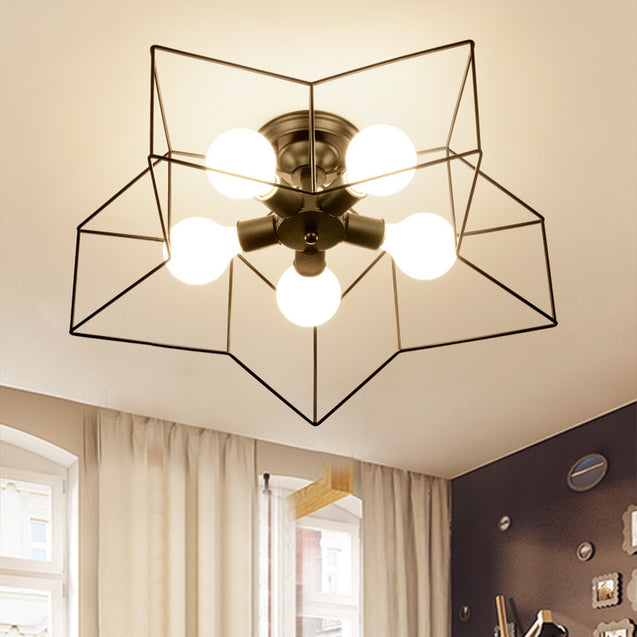 Coupcou.com: JUEJA Modern Minimalist Iron Art Ceiling Light 100 - 240V
