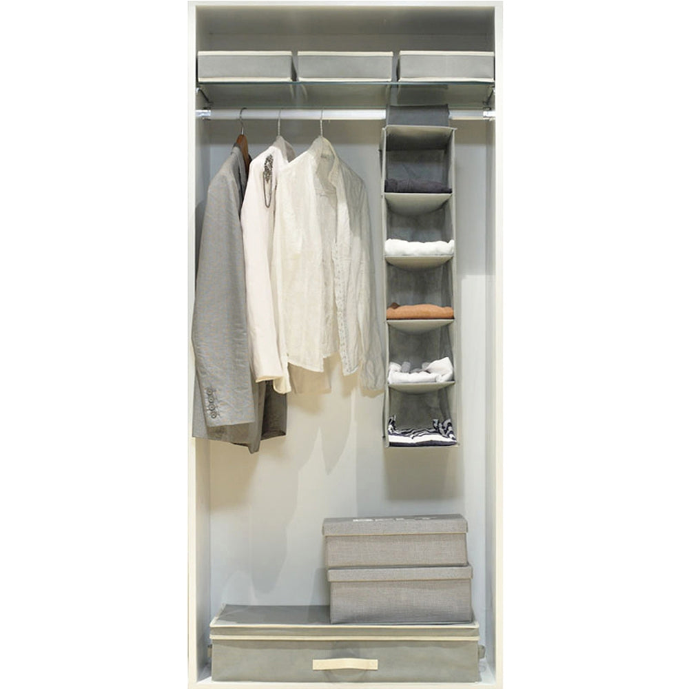 5 Layers of Non-Woven Hanging Storage BagGRAY / SIZE M