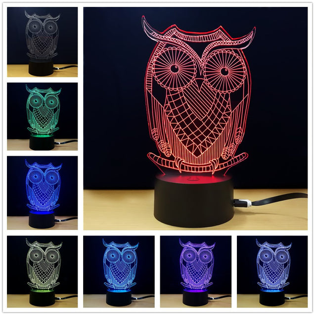 Coupcou.com: M.Sparkling TD285 Creative Animal 3D LED Lamp