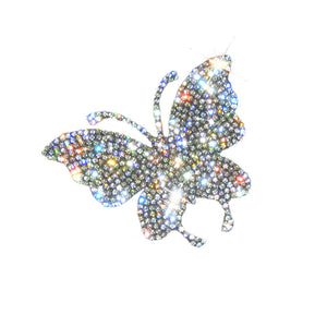 Coupcou.com: Car Sticker Crystal Rhinestone Truck SUV Home Office Window Decal Sticker Decoration Silver Butterfly 2.4 By 2.8inch
