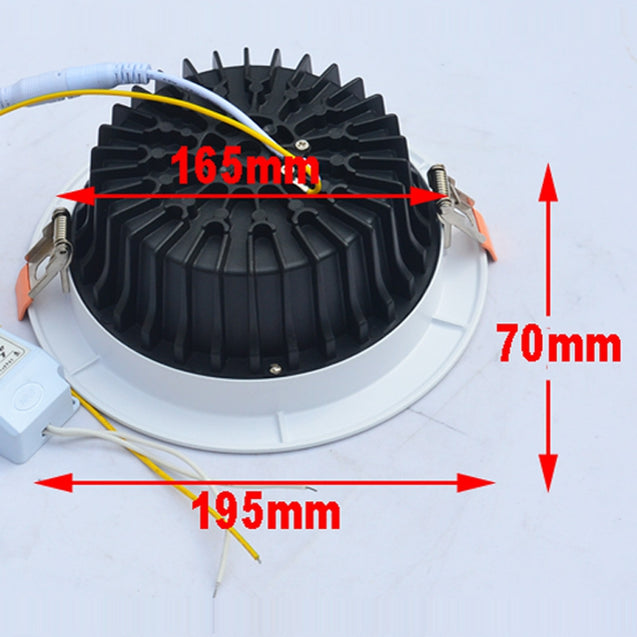 Coupcou.com: JIAWEN 20W Dimmable Warm White / Cool White COB LED Downlight AC 85 - 265V