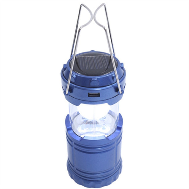 Coupcou.com: Outdoor LED Solar Power Collapsible Portable Rechargeable Hand Lamp Camping