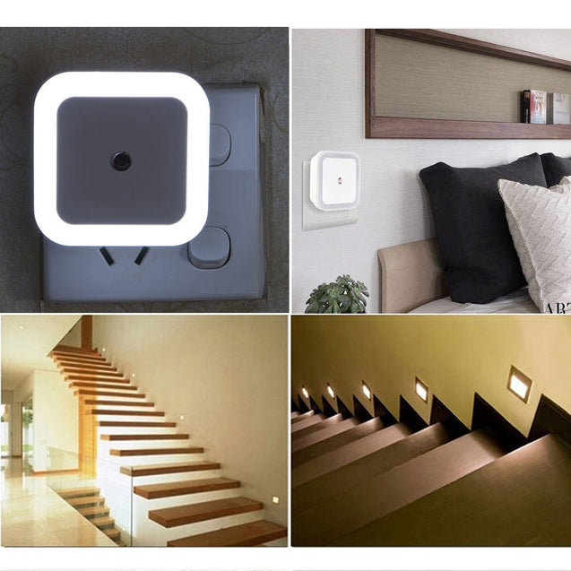 Coupcou.com: SHANNY 0.5W Smart Sensor Automatic Plug-in LED Night Light 5PCS