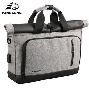Coupcou.com: Casual Portable Shoulder External Usb Charging Interface Frivolous Computer Bag