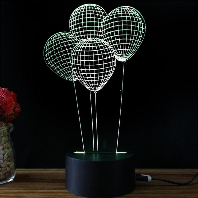 Coupcou.com: Balloon Styling Idea USB Touch Colorful 3D Small Night Light