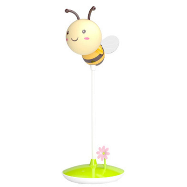 Coupcou.com: Cartoon Bee LED Lamp USB Charging Touch Dimming Yellow  Light