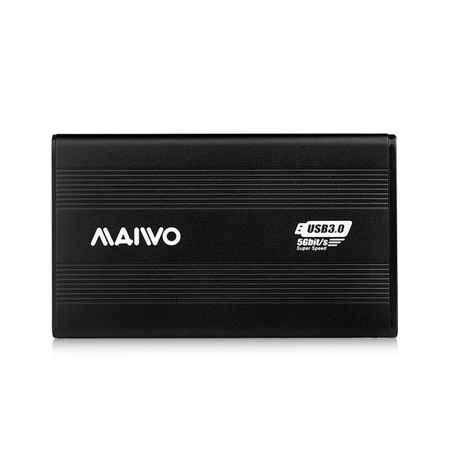 Coupcou.com: MAIWO K2501 All Aluminum Black2.5 Inch Hard Disk Cartridge HDD Enclosure