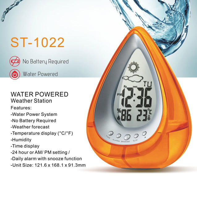 Coupcou.com: Eco Alarm Water Power Clock