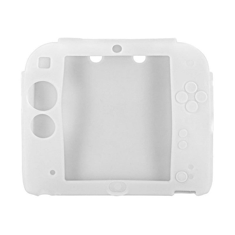 Cover Case for Nintendo 2DS Protective Soft Silicone Rubber Gel SkinWHITE