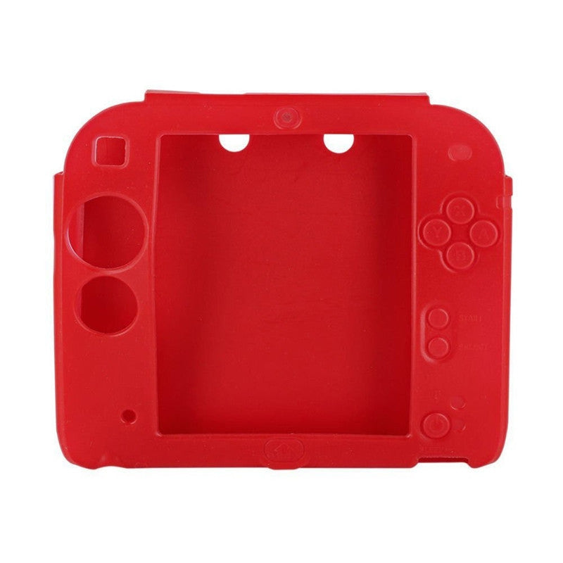 Cover Case for Nintendo 2DS Protective Soft Silicone Rubber Gel SkinRED