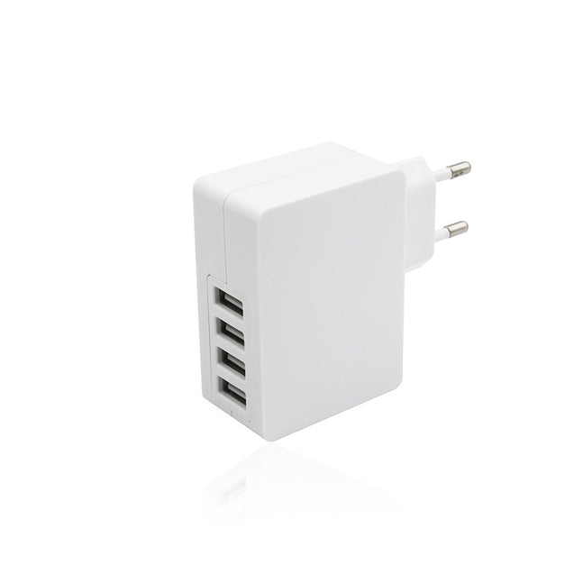 Coupcou.com: Universal 24W 5V 4.8A  4 Ports USB Power Supply Wall Adapter Charger