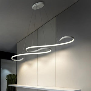 Coupcou.com: Modern  Line Shape Acrylic LED Pendant Lamp for Dining Living Room Kitchen Bedroom