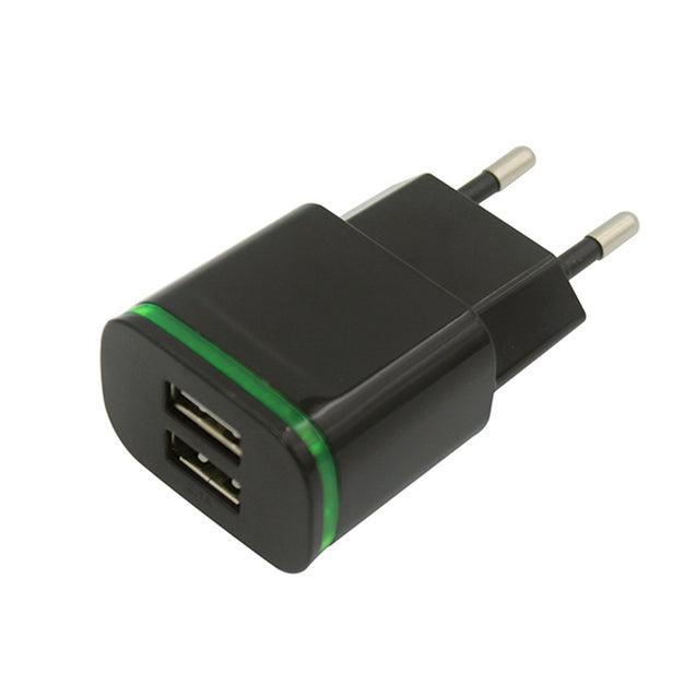 Coupcou.com: Dual USB Fast Charger 5V 2.1A / 1.0A Compatible with Smartphone / Digital Camera / PSP / GPS