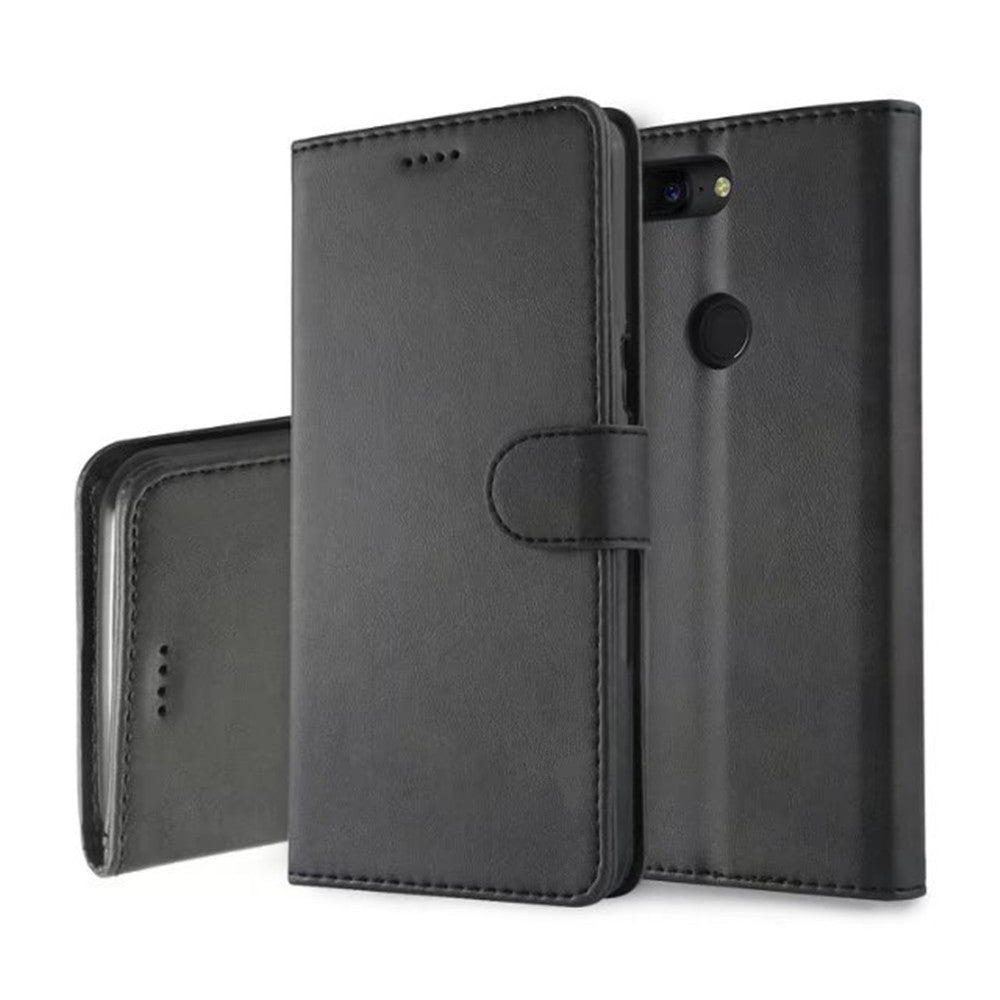 Cover Case for One Plus 5T  Mobile Phone Accessories  Flip Synthetic PU LeatherBLACK