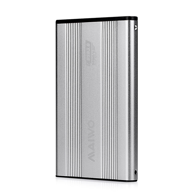 Coupcou.com: MAIWO K2501 All Aluminum Silver 2.5 Inch Hard Disk USB3.0 Serial Notebook