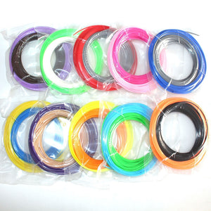 Coupcou.com: 3D Printer Pen Filament  Refill ABS 1.75mm 20 Color Pack 10 Meter